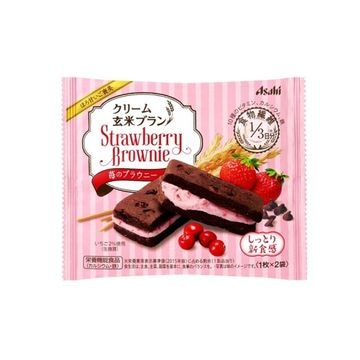【6個入り】アサヒ クリーム玄米ブラン苺のブラウニー 70g