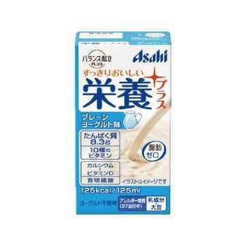 アサヒ 栄養プラス プレーンヨーグルト味 125mL x 24個