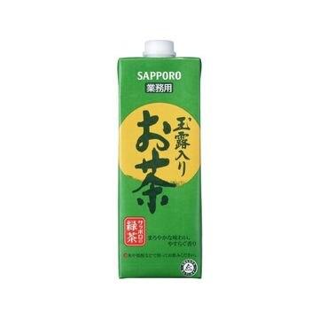 【6個入り】ポッカサッポロ 業務用 玉露入りお茶 紙 1L