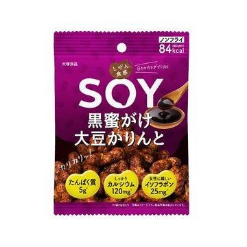 【6個入り】大塚食品 しぜん食感SOY 黒蜜がけ大豆かりんと 21g