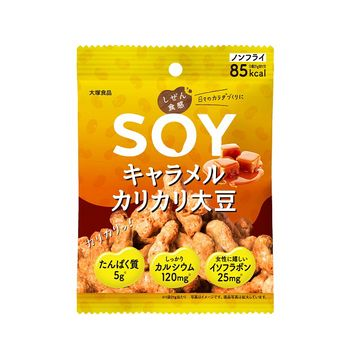 【6個入り】大塚食品 しぜん食感SOY キャラメルカリカリ大豆 21g