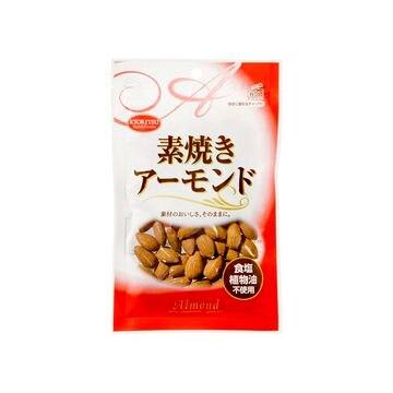 【10個入り】共立食品 素焼きアーモンド チャック付 80g