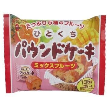 【12個入り】ブルボンひとくちパウンドケーキ ミックスフルーツ 135g