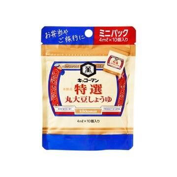 【12個入り】キッコーマン 特選 丸大豆しょうゆ 4ml