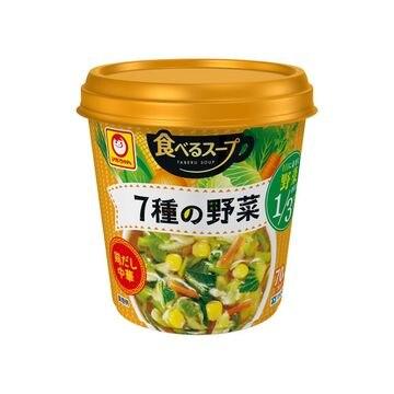 【6個入り】マルちゃん 食べるスープ 7種の野菜 鶏だし中華 25g