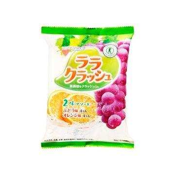 【12個入り】マンナン ララクラッシュ ぶどうオレンジ 8個