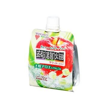 【6個入り】マンナン 大粒アロエin蒟蒻畑 リンゴ味 150g