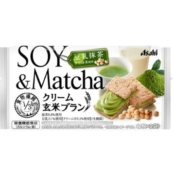【6個入り】アサヒ クリーム玄米ブラン 豆乳抹茶 72g
