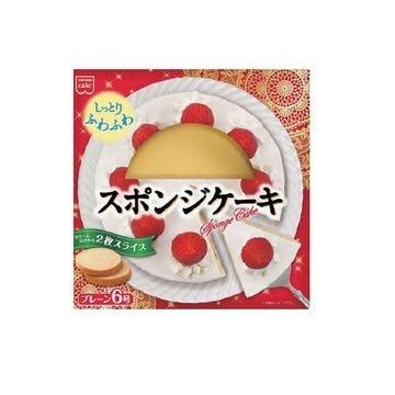 【6個入り】共立食品 ホームメイドスポンジケーキ プレーン丸6号 18cm