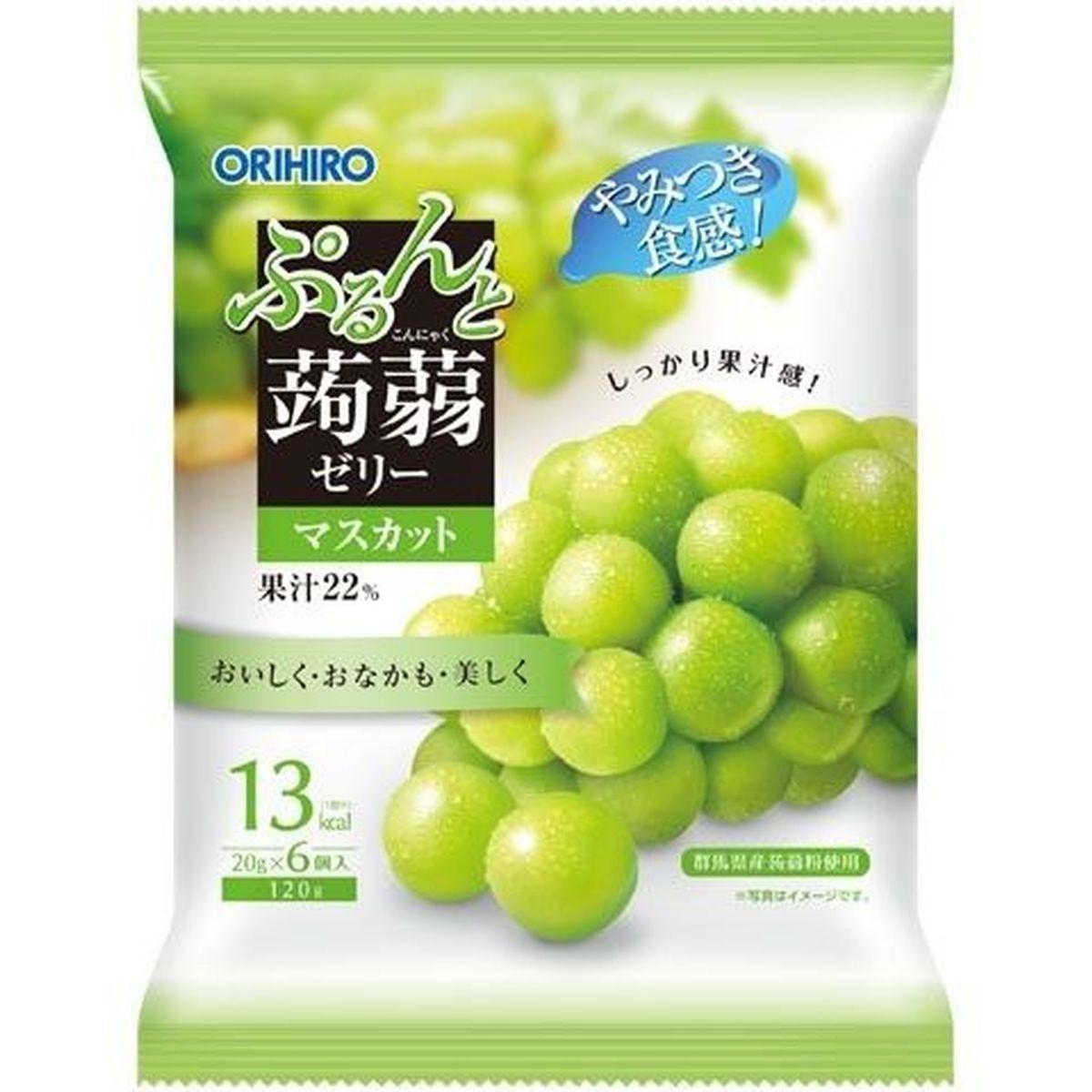 【24個入り】オリヒロ ぷるんと蒟蒻ゼリー マスカット 6個