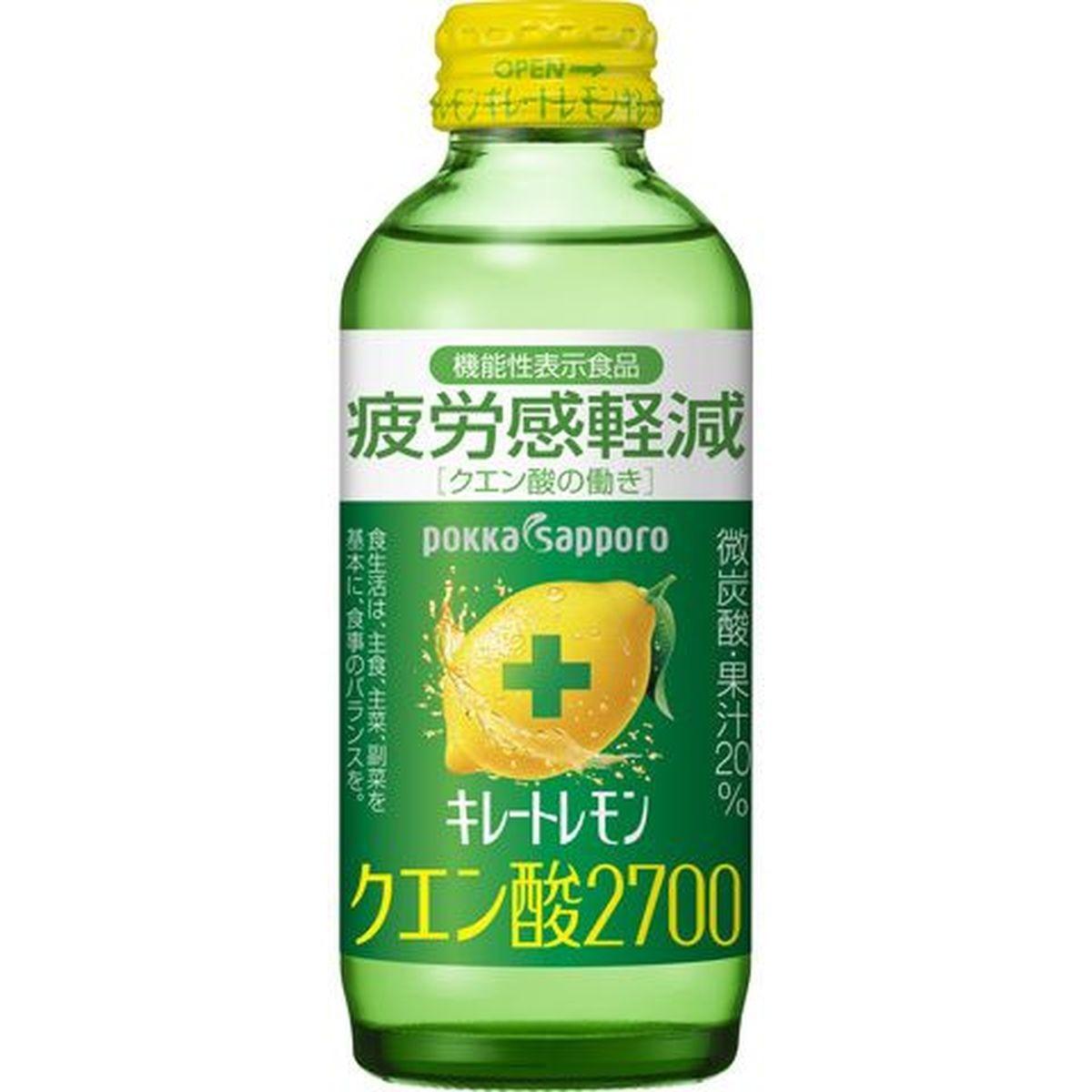 【6個入り】ポッカサッポロ キレートレモンクエン酸 瓶 155ml