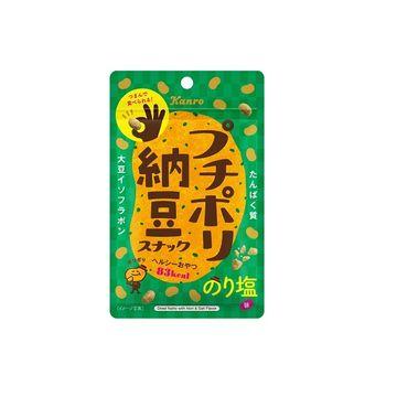 【送料無料】【10個入り】カンロ プチポリ納豆スナック のり塩味 18g