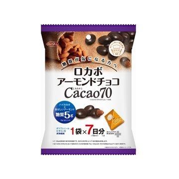 【送料無料】正栄 ロカボ アーモンドチョコカカオ70 18g x 12個