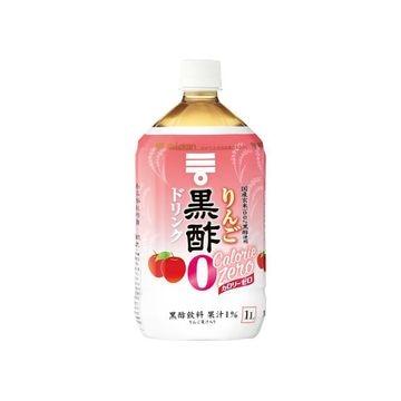 【6個入り】ミツカン りんご黒酢 カロリーゼロ ペット 1L