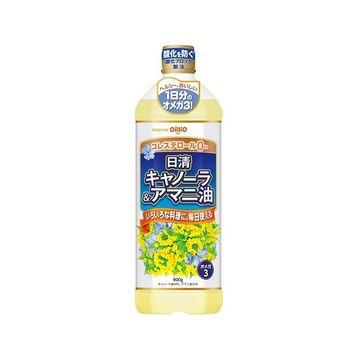 【送料無料】日清 キャノーラ&アマニ油 ポリ 900g x 8個