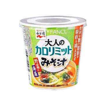 【6個入り】永谷園 カロリミットみそ汁 野菜と海藻 カップ 21.3g