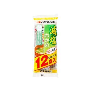 ハナマルキ かるしお おいしい減塩 即席わかめ汁 12食 x 12個