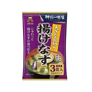 神州一味噌 大きな乱切り揚げなす汁 3食 x 12個