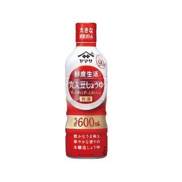 【12個入り】ヤマサ 鮮度生活 特選丸大豆しょうゆ 鮮度ボトル 600ml