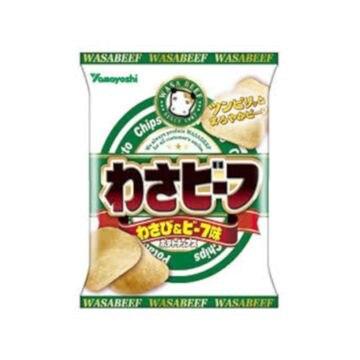 【12個入り】山芳 ポテトチップス わさビーフ 55g