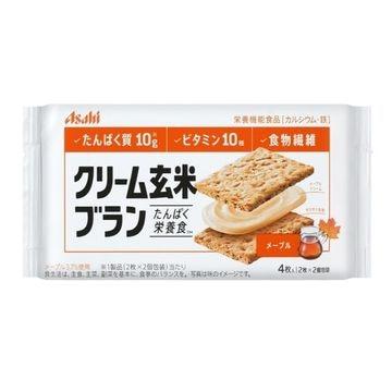 【6個入り】アサヒ クリーム玄米ブラン メープル 72g