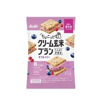 【8個入り】アサヒ ちょこっとクリーム 玄米ブラン ダブルベリー 36g