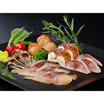 ディメール (青森)八戸前沖さばの冷燻・棒寿司と魚介セット