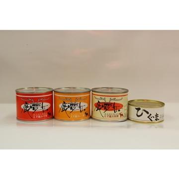 田尾商店 (北海道)鹿肉3缶・ひぐま缶セット