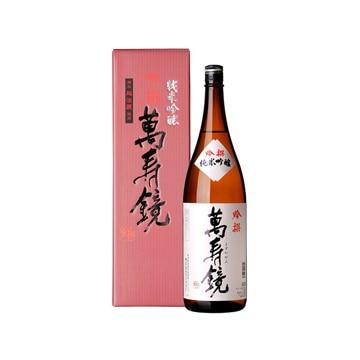 マスカガミ 【新潟】越後の地酒 萬寿鏡 純米吟醸吟撰 1.8L
