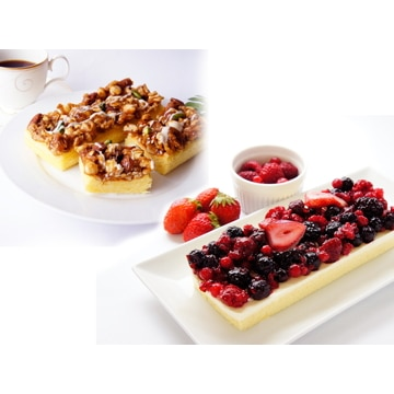 ベイクド・アルル 【北海道】5種ベリーのレアチーズケーキ&5種ナッツのキャラメルケーキセット