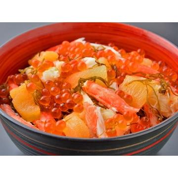 栄屋 【北海道】海鮮ぶっかけ丼(かにいくら)