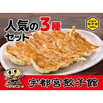さくら食品宇都宮餃子館 (栃木)宇都宮餃子館 人気の3種セット