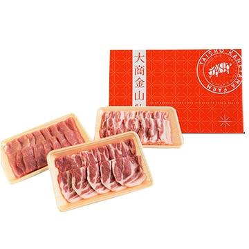 大商金山牧場 (山形)米の娘ぶたの焼肉セット900g(ロース・バラ・モモ 各300g)
