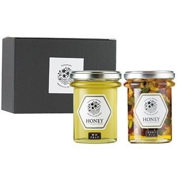 はなのみ (長野)信州で採れた蜂蜜とはちみつナッツ2本セット