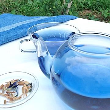 アイアカネ工房 藍の青いお茶ティーバッグ 大