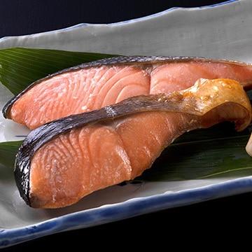 永徳(北海永徳) (新潟)(新潟・村上)塩引鮭 切身8切 N-7H00F