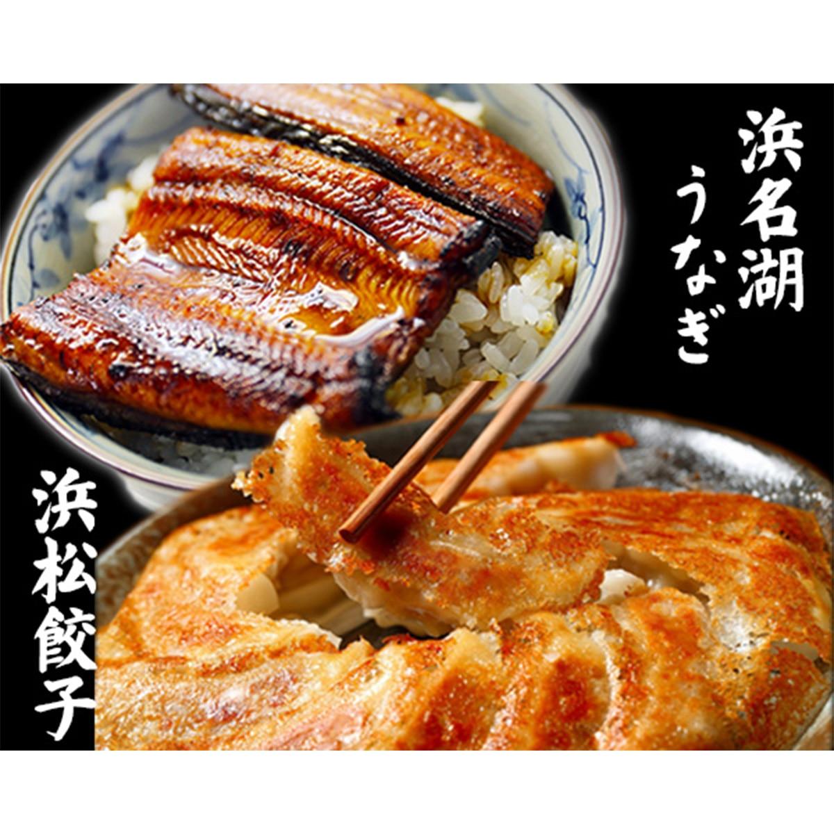 浜松三星 浜名湖うなぎ(蒲焼80g×2パック)と浜松餃子(餃子20g×30粒)セット【ギフト箱入】