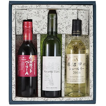 武田食品 (山梨)山梨ワイン飲み比べセット(ハーフワイン3本)