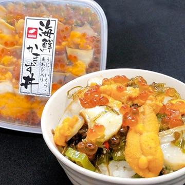 栄屋 海鮮かます丼 (うに・いくら・あわび入)