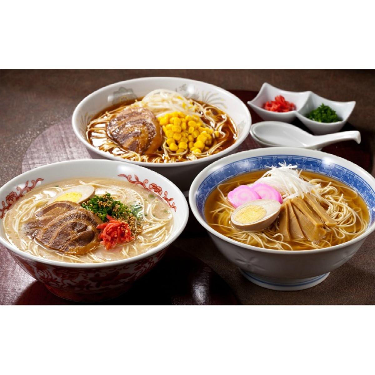アデリー 長浜屋台の博多生ラーメン スープ3種付き(7食)
