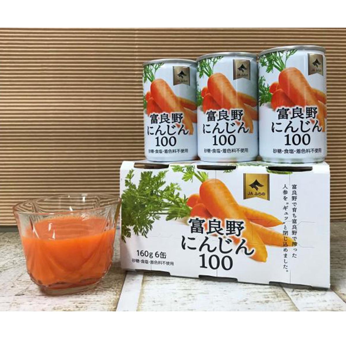 【送料無料】JAふらの 富良野にんじん100 (160g×30本) JAふらのにんじんジュース