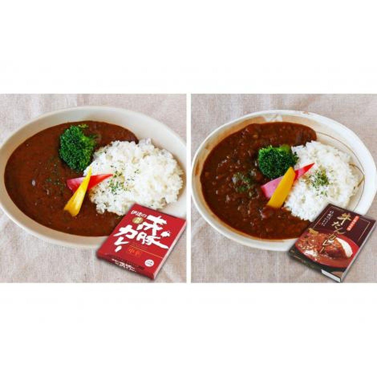 伊豆沼農産 牛たんカレー・赤豚カレー食べ比べセット(6箱入)