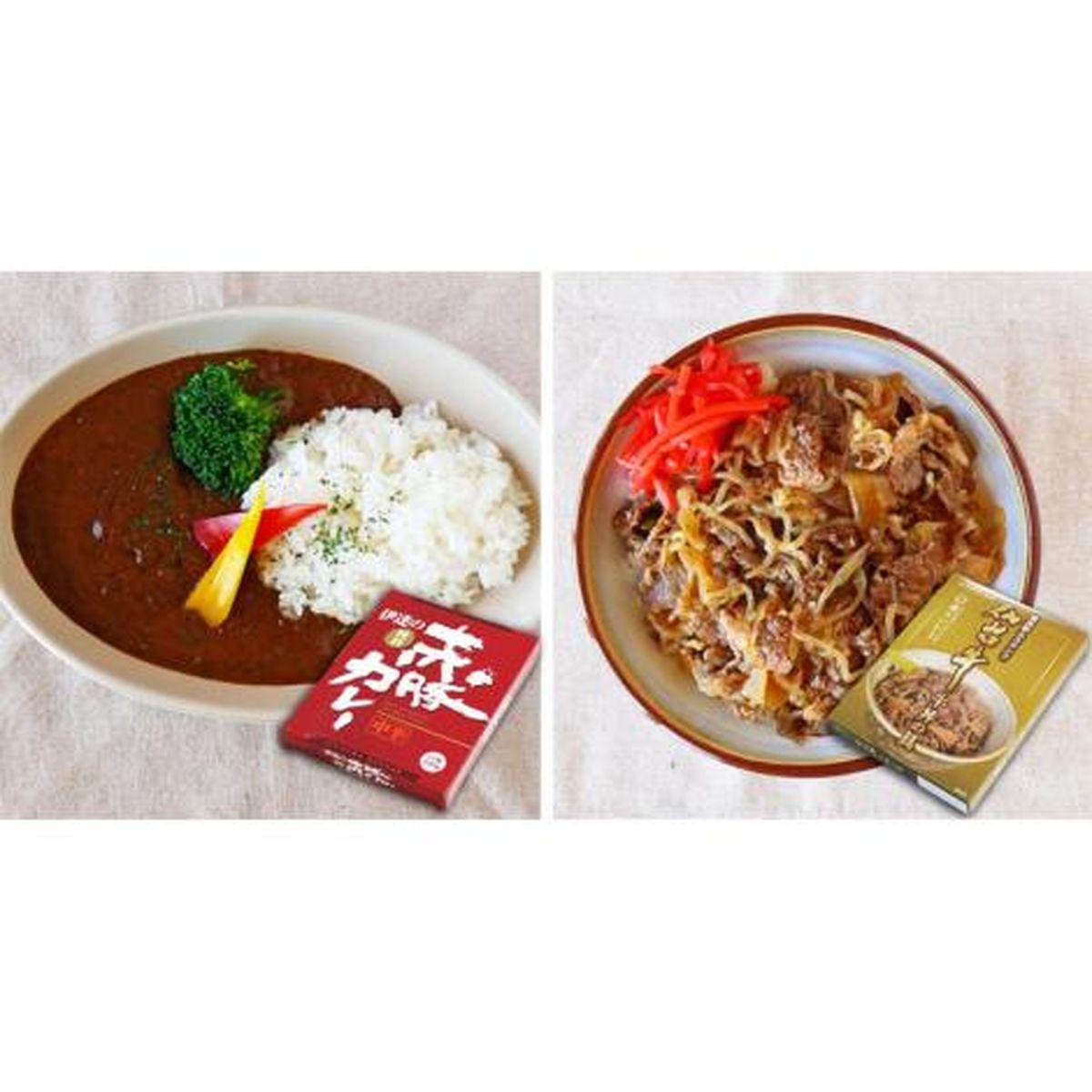 【送料無料】伊豆沼農産 仙台牛丼・赤豚カレー食べ比べセット(6箱入)
