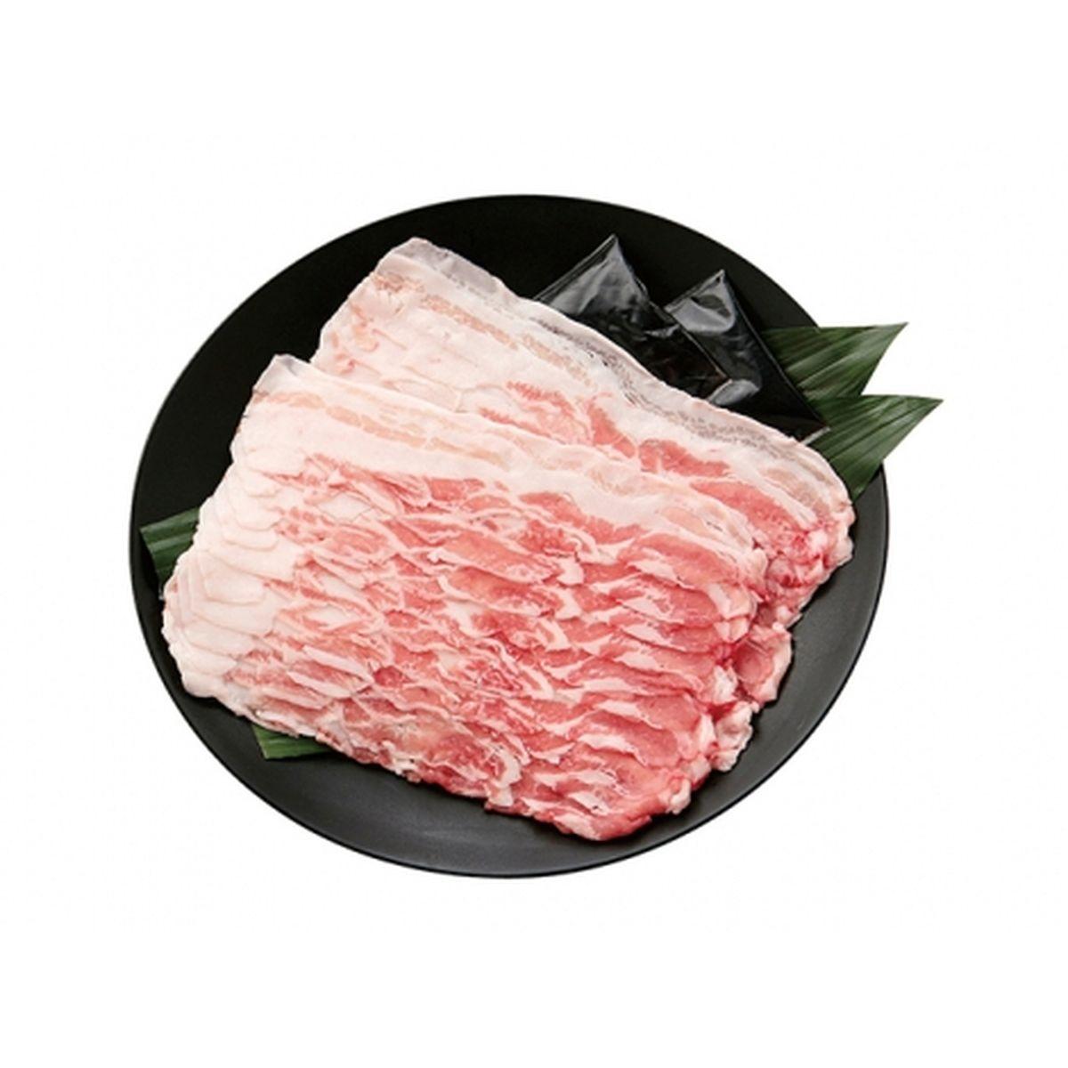 【送料無料】牛一 鹿児島県産アベル牧場黒豚 バラ しゃぶしゃぶ用 400g(ポン酢たれ2個付き)