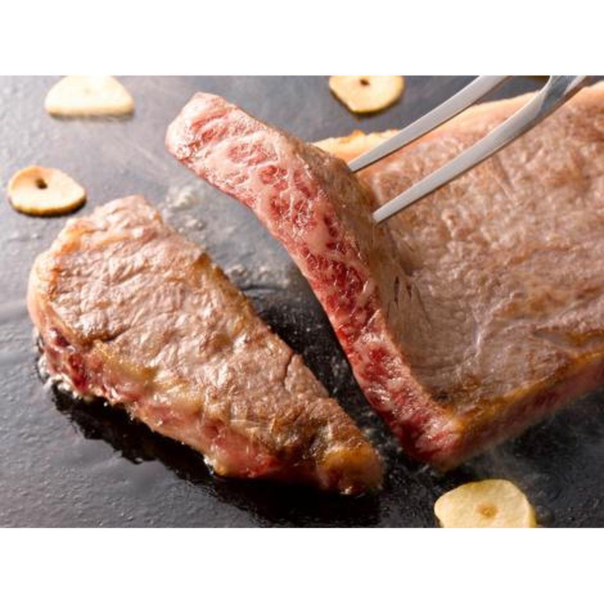 【送料無料】高橋畜産食肉 山形牛ステーキ食べ比べ800g肉だれ?橋付 牛サーロイン(2枚入)400g/牛リブロース(2枚入)400g 計800g