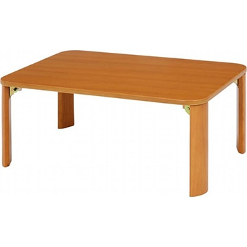 不二貿易 折脚ローテーブル(ナチュラル) KSM-7550NA 12840