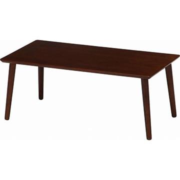不二貿易 突板ローテーブル 8040BR 10864