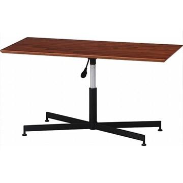 不二貿易 昇降リビングテーブル トラヴィ2 ウォルナット 15388