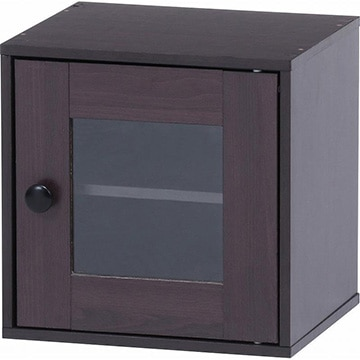 不二貿易 キューブボックス ガラス扉 BR 99899