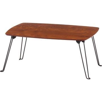 不二貿易 折れ脚ローテーブル トロン 6040MBR 10494
